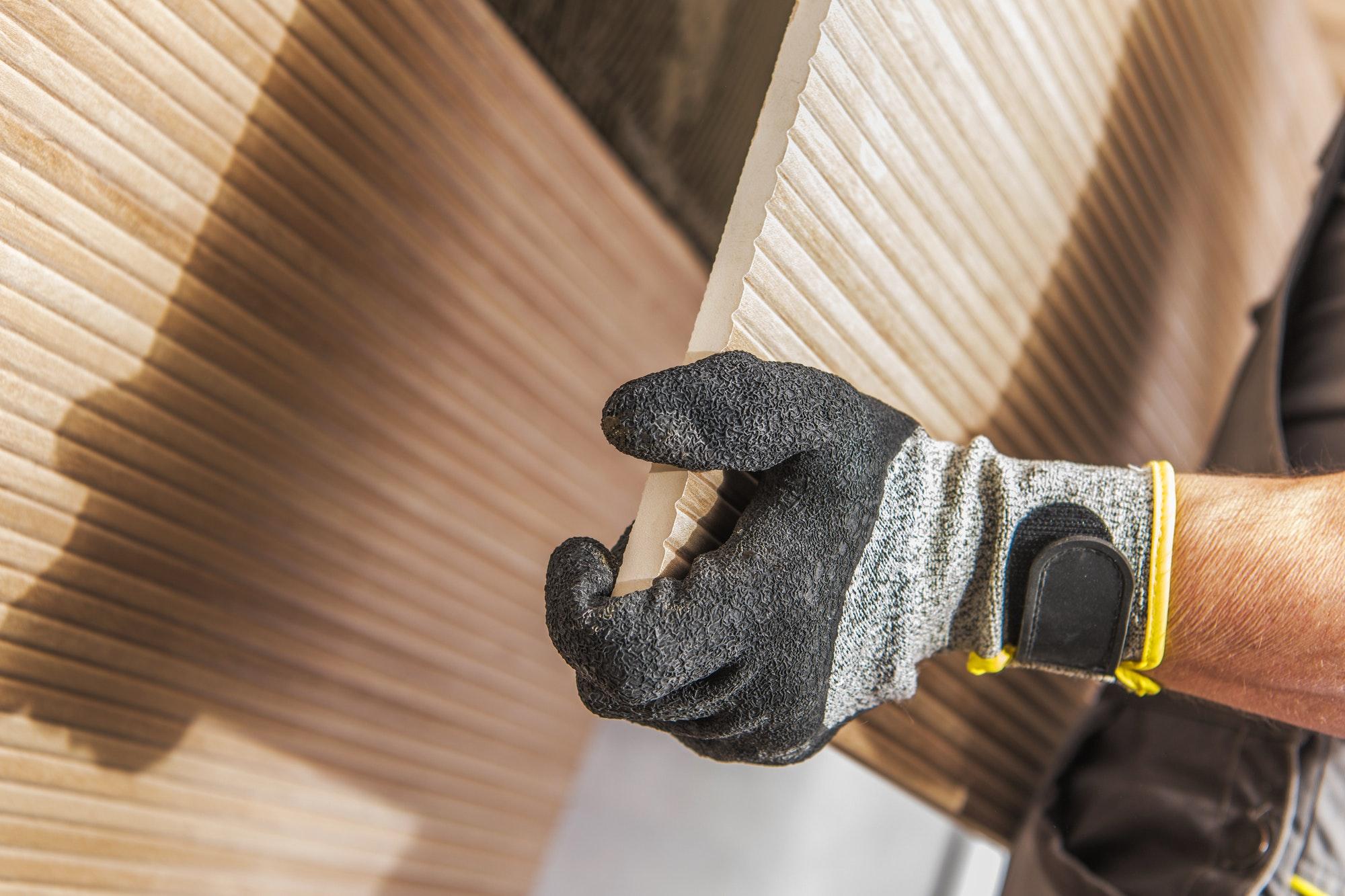Ceramic Tiles Wall Install